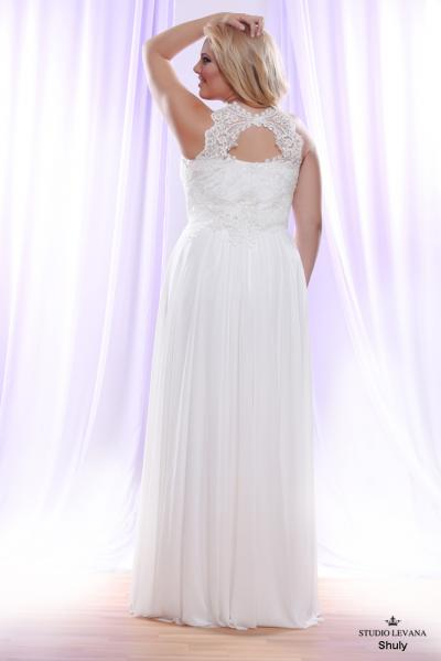 Plus size wedding gown White collection Shuly (2)
