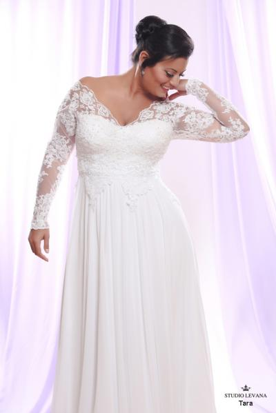 Plus size wedding gown White collection Tara (1)
