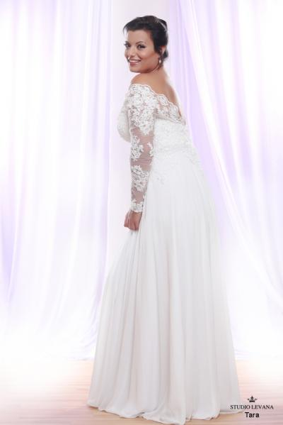 Plus size wedding gown White collection Tara (2)