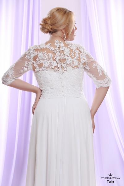 Plus size wedding gown White collection Taria (1)