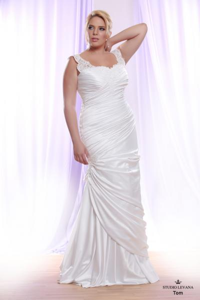 Plus size wedding gown White collection Tom (2)