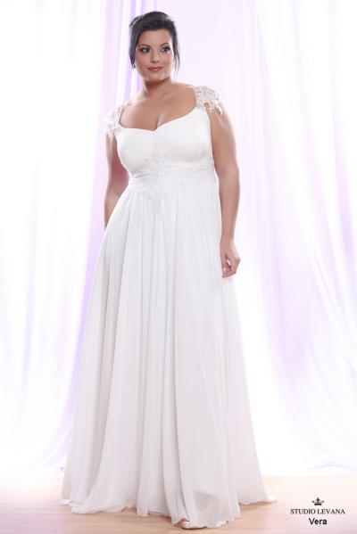 Plus size wedding gown White collection Vera (2)