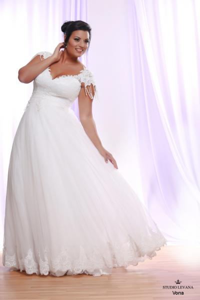 Plus size wedding gown White collection Vona (4)