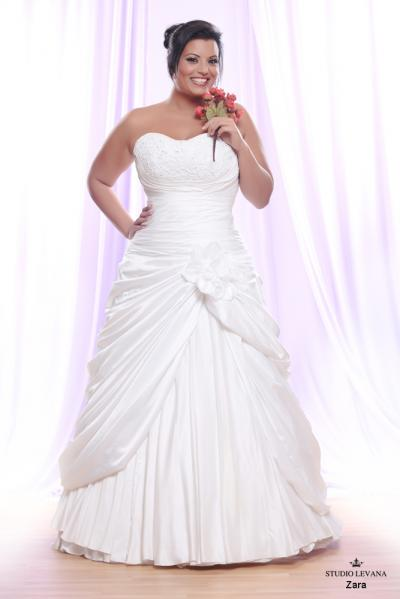 Plus size wedding gown White collection Zara