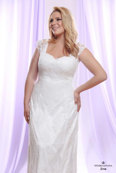 Plus size wedding gown White collection Zina