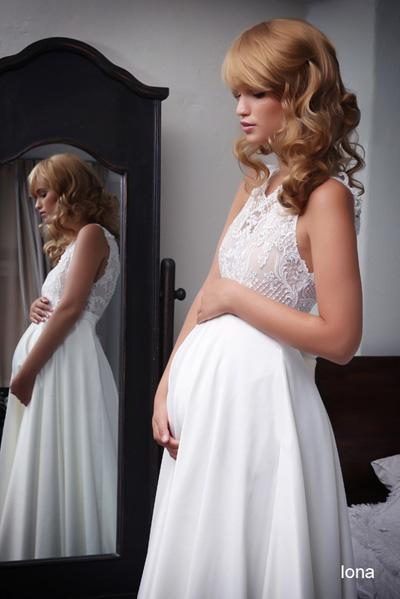 Pregnant wedding gowns 2015 iona (2)