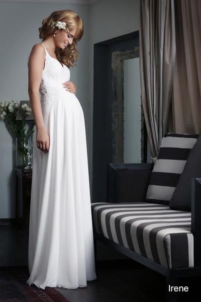 Pregnant wedding gowns 2015 irene (2)