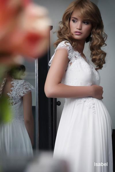 Pregnant wedding gowns 2015 isabel (1)
